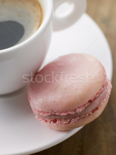 Raspberry Macaroon with a Cup of Espresso Stock photo © monkey_business