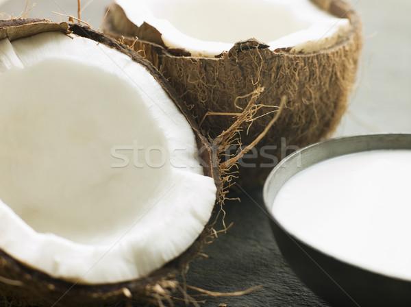 блюдо кокосовое молоко свежие кокосового фрукты Сток-фото © monkey_business