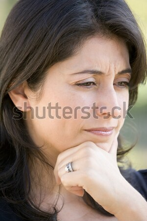 Head shot of worried woman Stock photo © monkey_business