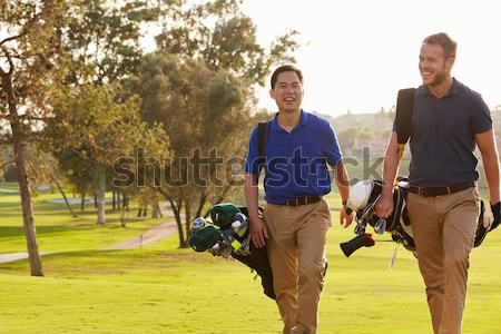 Couple jeu golf homme marche Photo stock © monkey_business