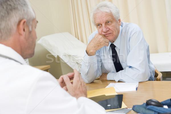 男 医師 医療 高齢者 男性 ストックフォト © monkey_business