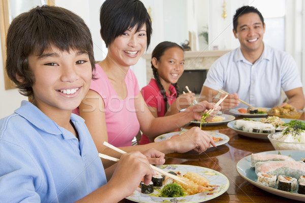 Family Eating A meal,mealtime Together  Stock photo © monkey_business