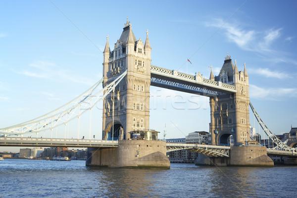 タワーブリッジ ロンドン イングランド 橋 色 アーキテクチャ ストックフォト © monkey_business