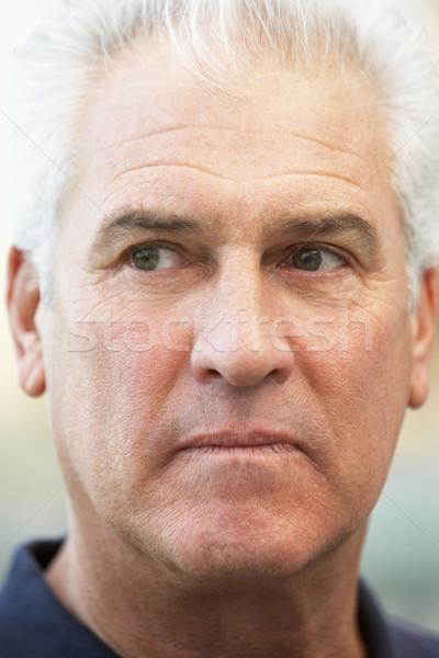 Zdjęcia stock: Twarz · portret · osoby · starszy · emocji · naturalnych