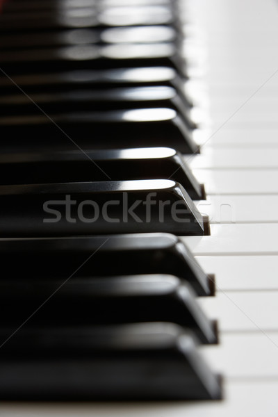 Stock photo: Close up of piano keys