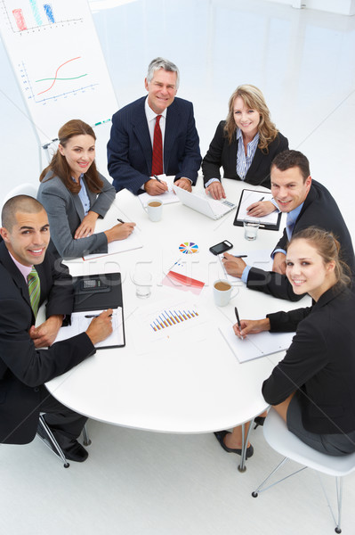 Mixed group in business meeting Foto stock © monkey_business