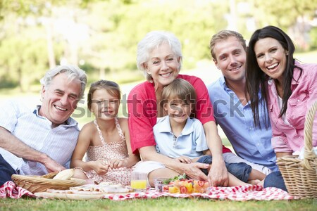 Multi Generation Family Sitting On Sofa Together Stock photo © monkey_business