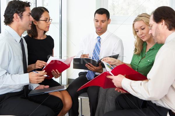 Businesspeople Having Informal Office Meeting Stock photo © monkey_business