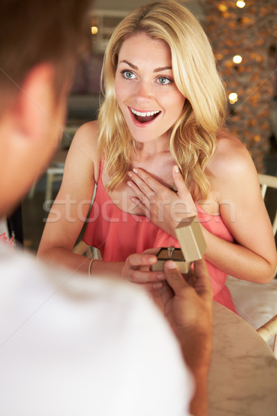Man Proposing To Woman In Restaurant Stock photo © monkey_business