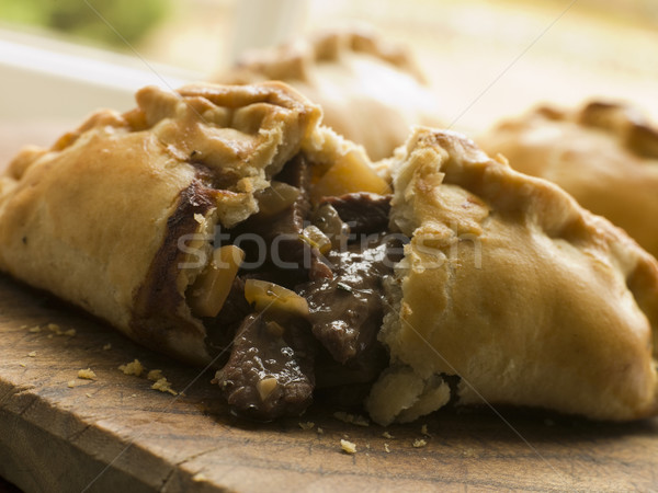 Traditional Cornish Pasty broken open Stock photo © monkey_business