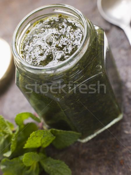 Jarra de molho colher recipiente refeição Foto stock © monkey_business