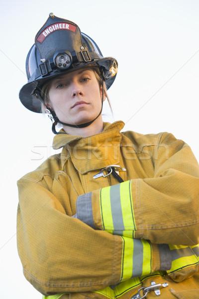 Portrait of a female firefighter Stock photo © monkey_business