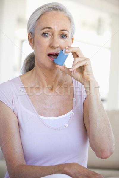 Foto stock: Mulher · doente · cor · sessão · saúde · caucasiano