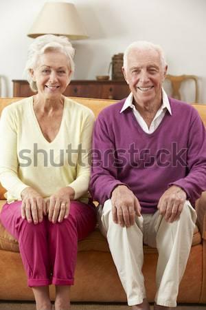 Idős pár ül együtt kórház pár beteg Stock fotó © monkey_business