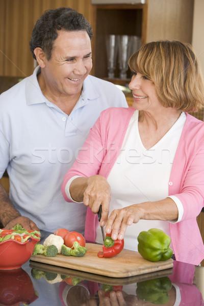 Férj feleség együtt boldog pár vacsora Stock fotó © monkey_business