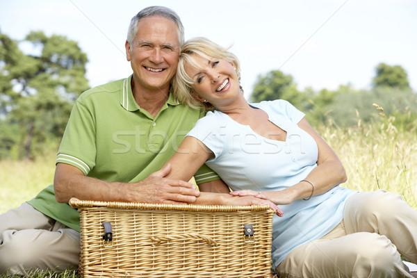 Stok fotoğraf: Olgun · çift · piknik · kadın · adam