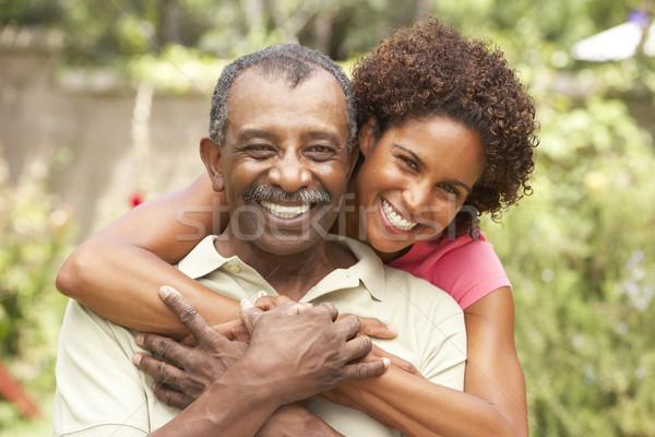 Zdjęcia stock: Starszy · człowiek · dorosły · córka · kobiet