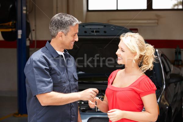 Mulher jovem cuidar reparar compras mulher Foto stock © monkey_business