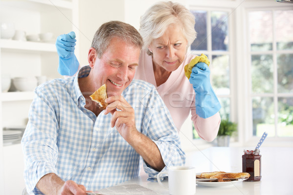 Retired man not helping with housework Stock photo © monkey_business