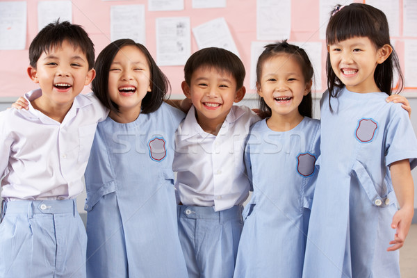 Studenten chinese school klas kinderen groep Stockfoto © monkey_business