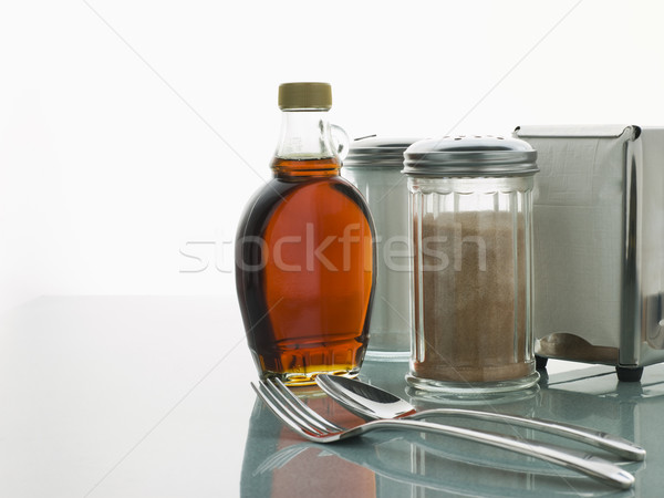 Diner Table with Cutlery and Sauces Stock photo © monkey_business