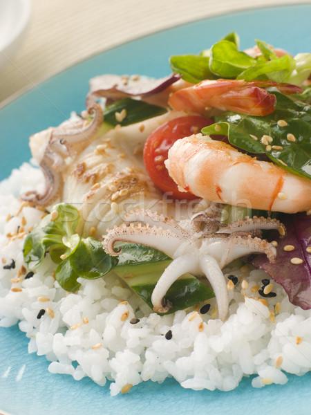 Stock photo: Seafood Sushi Salad