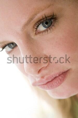 Foto stock: Cabeza · tiro · mujer · cara · retrato · emoción