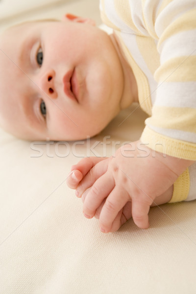 Stockfoto: Baby · binnenshuis · portret · baby · ontspannen · cute