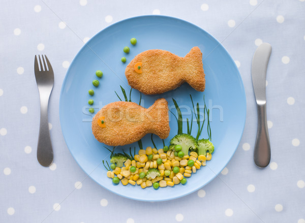 Fish Cakes with Vegetables Stock photo © monkey_business