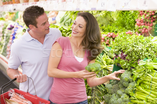 Young couple shopping for fresh produce Stock photo © monkey_business