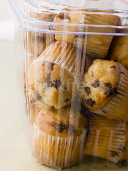 Milk Chocolate Chip Muffins In A Plastic Box Stock photo © monkey_business