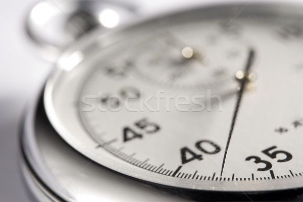Primer plano reloj tiempo color plata Foto stock © monkey_business