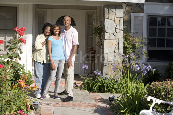 Man, Woman, My House, Couple, Front Yard, House, Happy, Home, La Stock photo © monkey_business