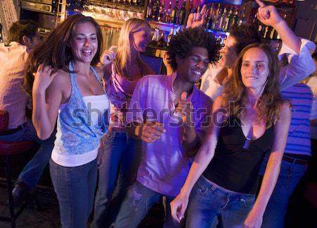 Stock fotó: Fiatalember · fiatal · nő · tánc · éjszakai · klub · férfi · pár
