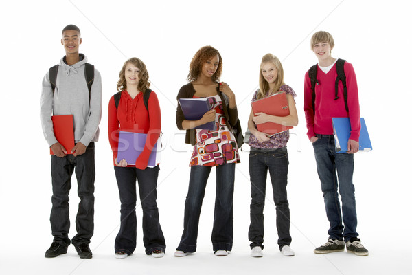 Full Length Studio Portrait Of Five Teenage Students Stock photo © monkey_business