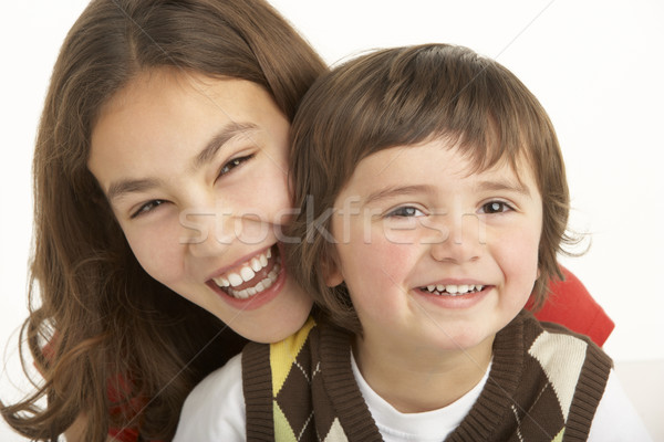 Studio Portrait Of Brother And Sister Stock photo © monkey_business