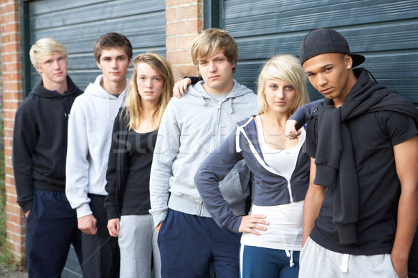 Group Of Teenagers Hanging Out Together Outside Stock photo © monkey_business
