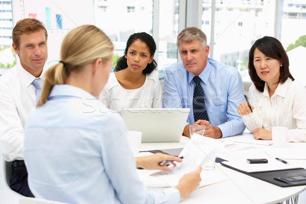 Recrutamento escritório reunião computador mulheres tabela Foto stock © monkey_business