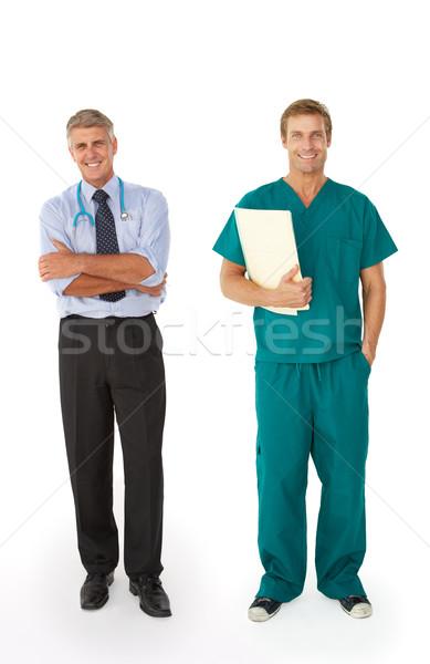 Due maschio medici professionisti lavoro ospedale Foto d'archivio © monkey_business