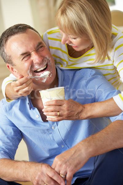 Senior Woman Feeding Husband Ice Cream Stock photo © monkey_business