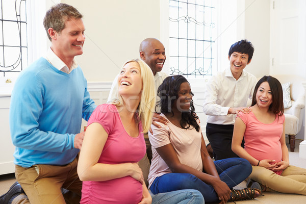 Couples Attending Ante Natal Class Together Stock photo © monkey_business
