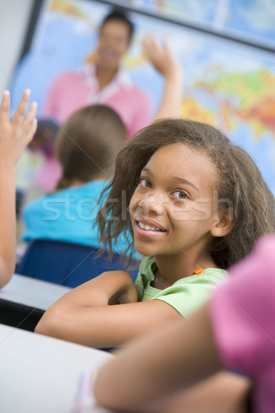 Pupil in elementary school classroom Stock photo © monkey_business