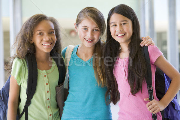 Stock photo: Group of elementary school friends