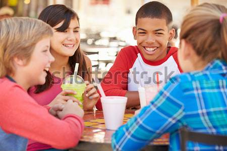 Family Having Lunch Together At The Mall Stock photo © monkey_business