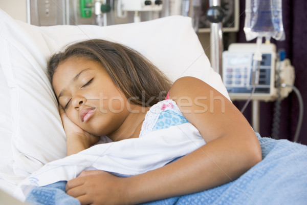 Joven dormir nino salud hospital Foto stock © monkey_business