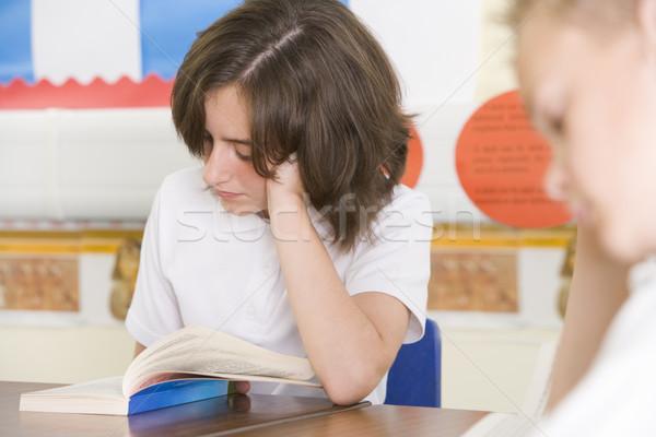 ストックフォト: 読む · 図書 · クラス · 図書 · 学校