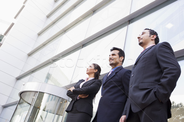 Foto stock: Grupo · gente · de · negocios · fuera · oficina · moderna · negocios