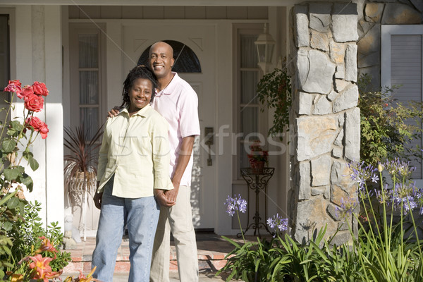 Man, Woman, My House, Front Door, Family, Happy, Home, House, Do Stock photo © monkey_business