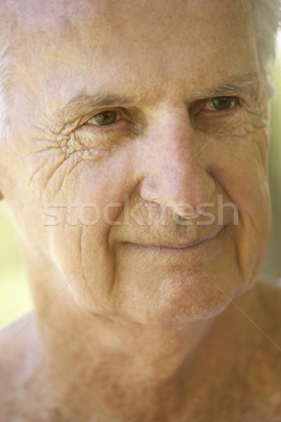 Stockfoto: Portret · senior · man · gelukkig · persoon · geluk