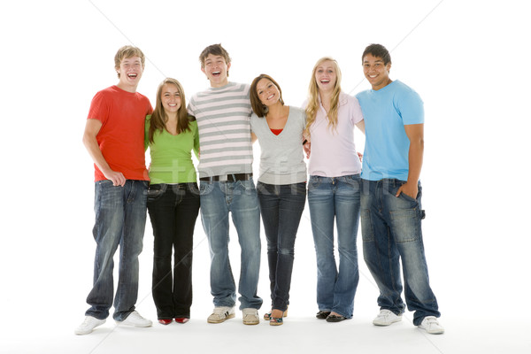 Portrait adolescentes garçons amis couleur adolescent Photo stock © monkey_business
